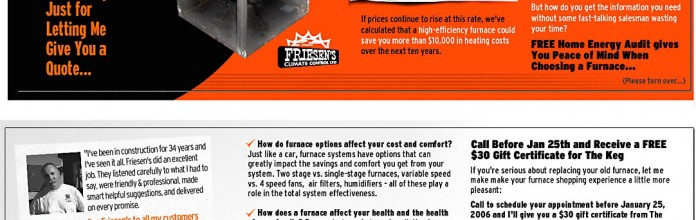 Direct Mail: Postcard for Furnace Campaign